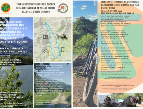 Tour & Contest fotografico nel circuito della Via Francigena da Ivrea al confine della Valle d'Aosta e ritorno.
